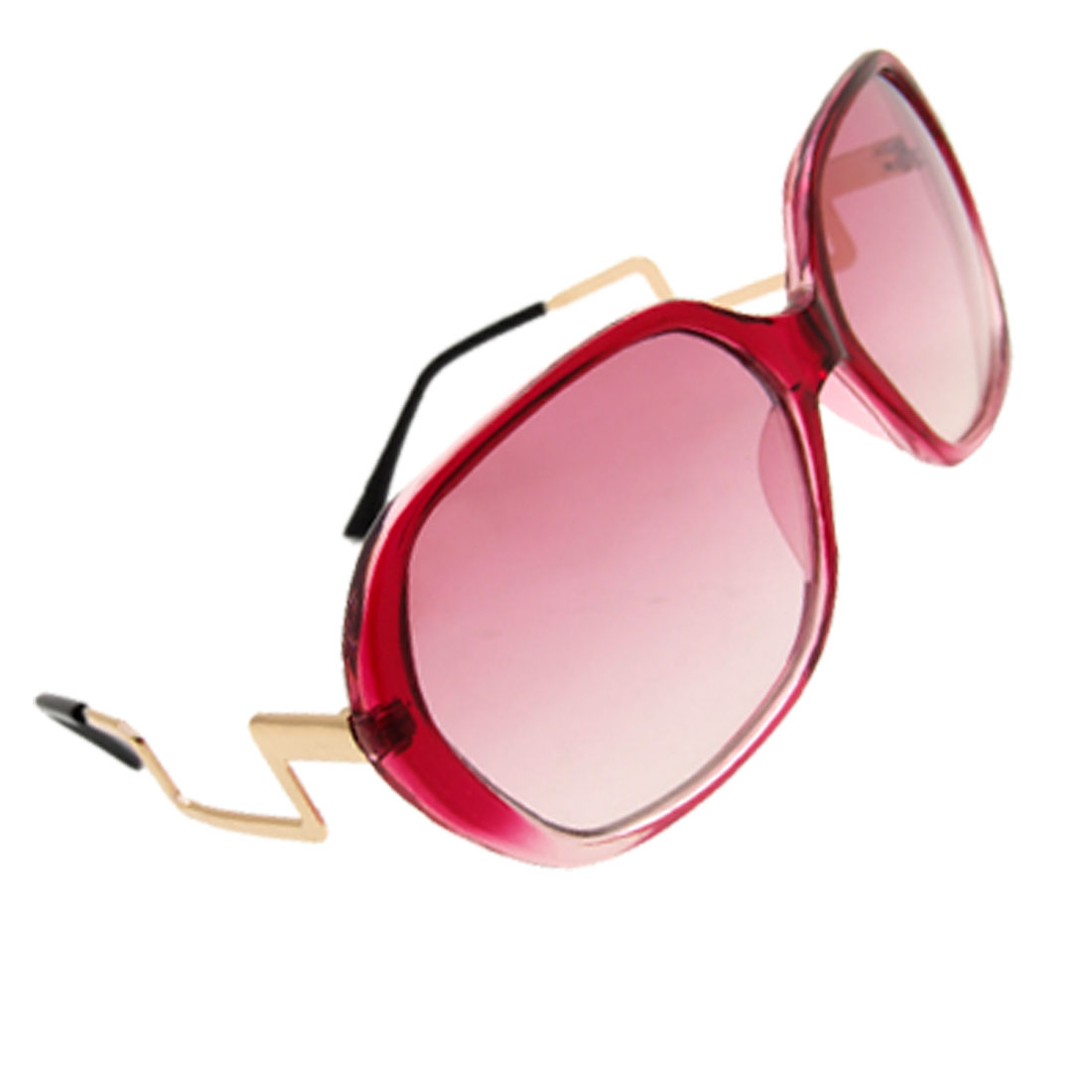 Womens Rectangular Solar Shield Sunglasses Wine Red