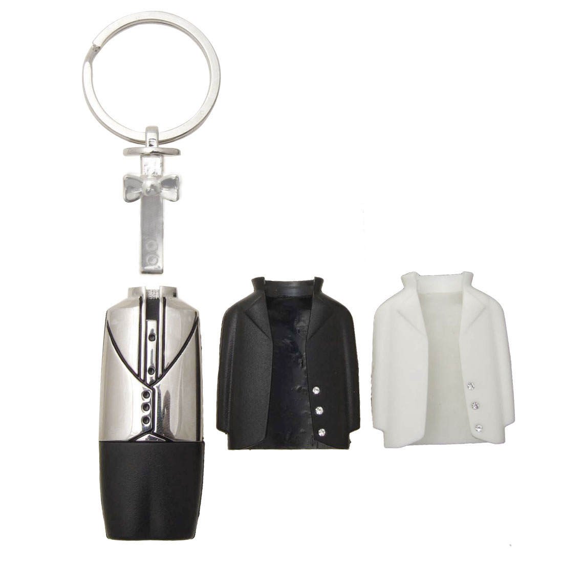 Cute Interchangeable Wedding Suit Stainless Steel Key Ring