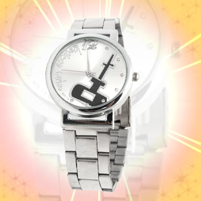 Fashion Jewelry Luscious Silver Dial Round Metal Men's Watches