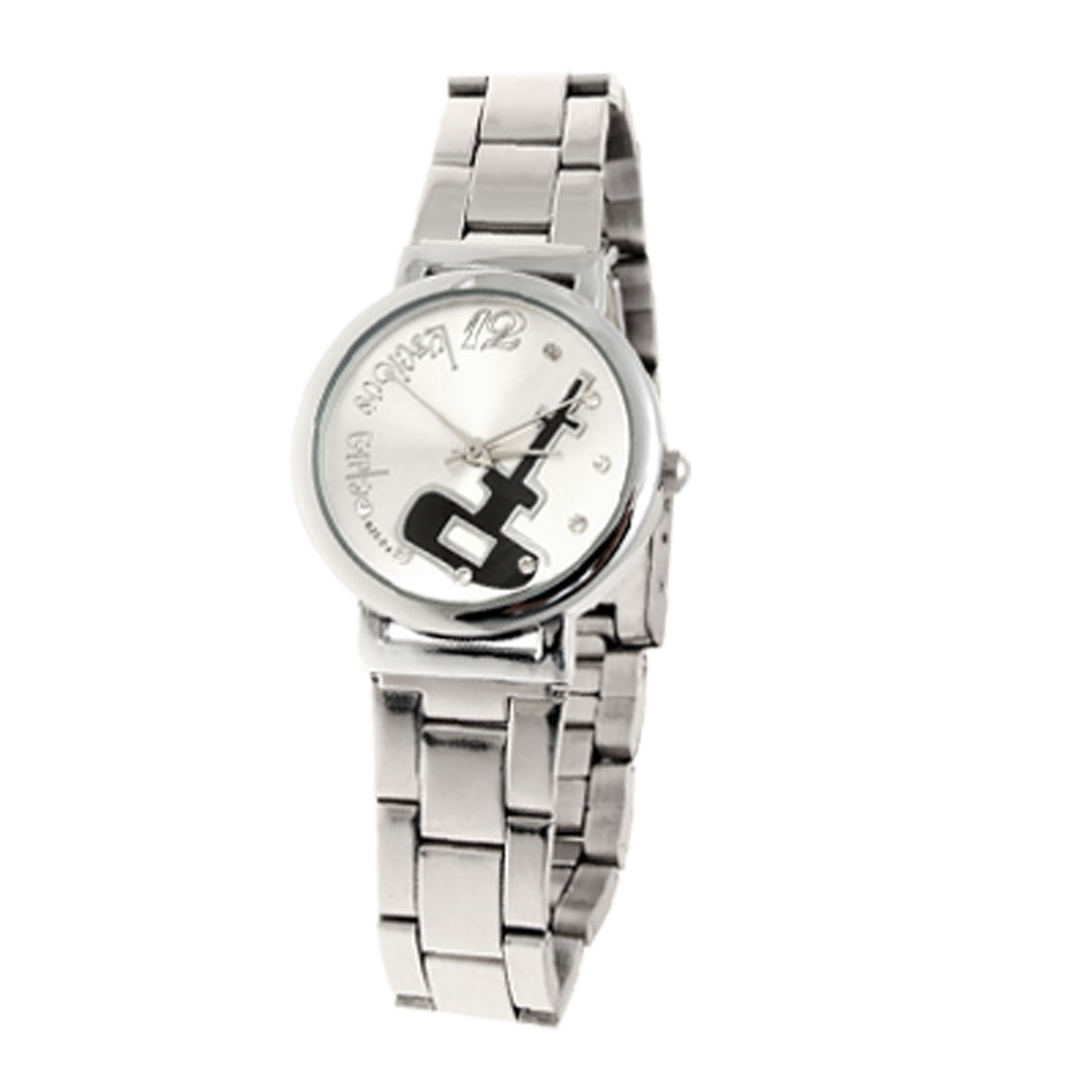 Fashion Jewelry Luxurious Silver Dial Round Metal Women Watches