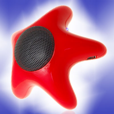 Small Red Ungual Starfish Speaker for PC Notebook Laptop Desktop