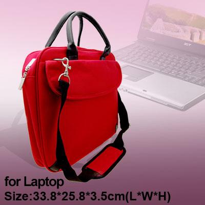 """14.1"""" Laptop Notebook Handbag Nylon Carrying Shoulder Bag Red"""