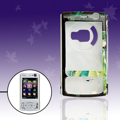 Green Plastic Cartoon Hard Case for Nokia N95