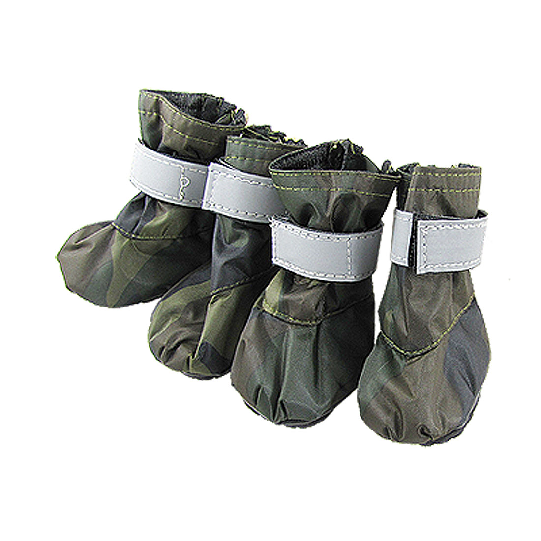 Army Camouflage Pet Winter Protective Boots Dog Shoes Size S