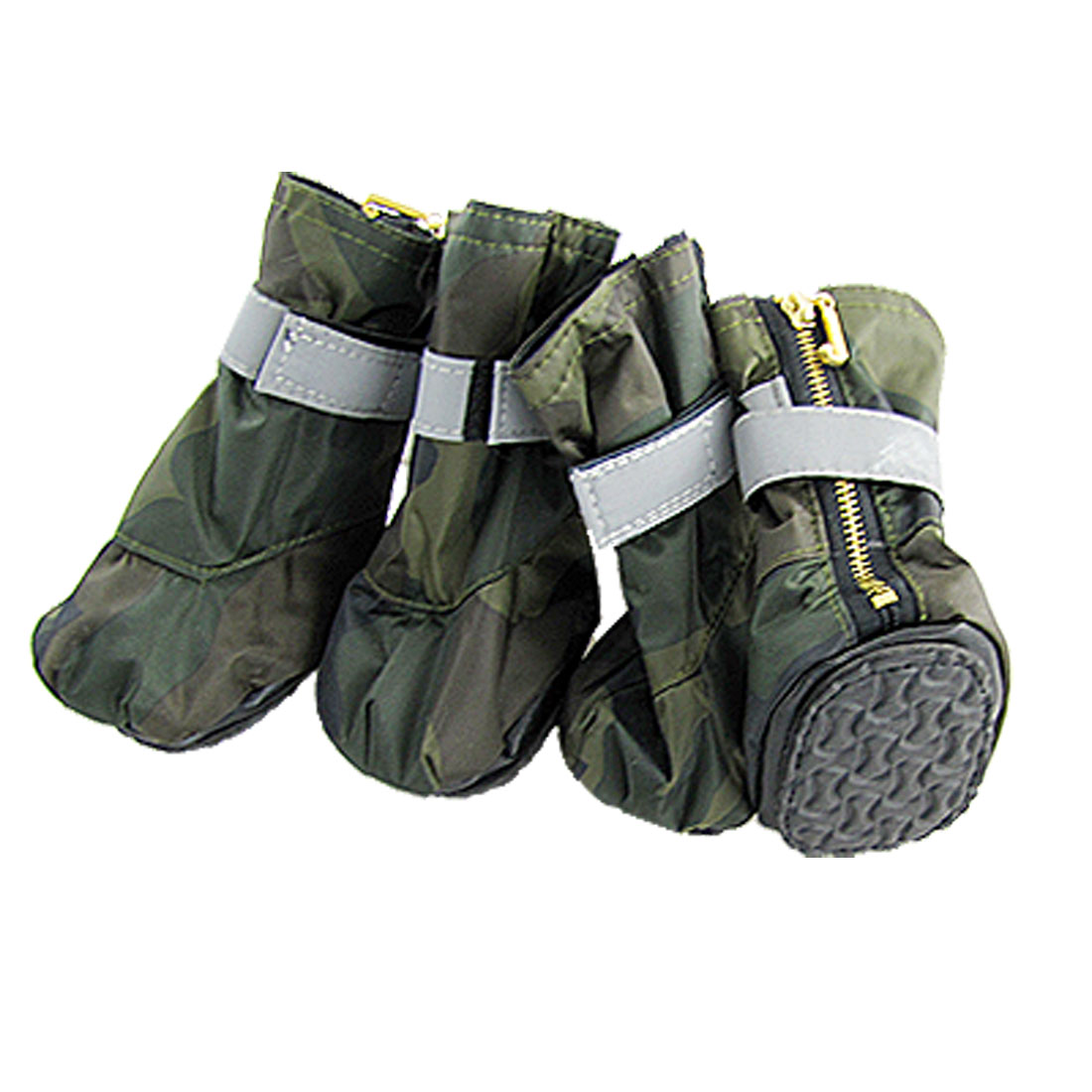 Camouflage Army Winter Protective Pet Boots Dog Shoes Large