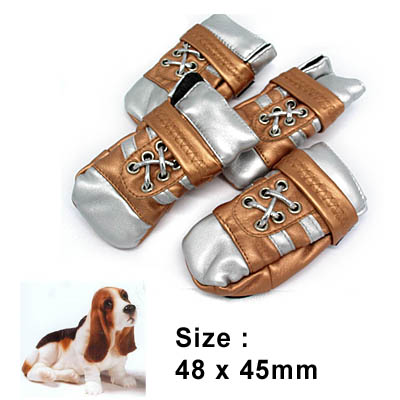 Luxury Protective Pet Boots Dogshoes Leather Booties Small