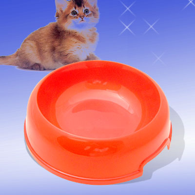Cat Dog Solid Plastic Food Feeder Dish Pet Water Bowl Medium
