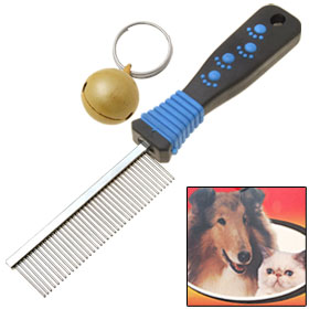 Professional Dog Cat Pet Grooming Comb with Fine Tooth and Small Bell