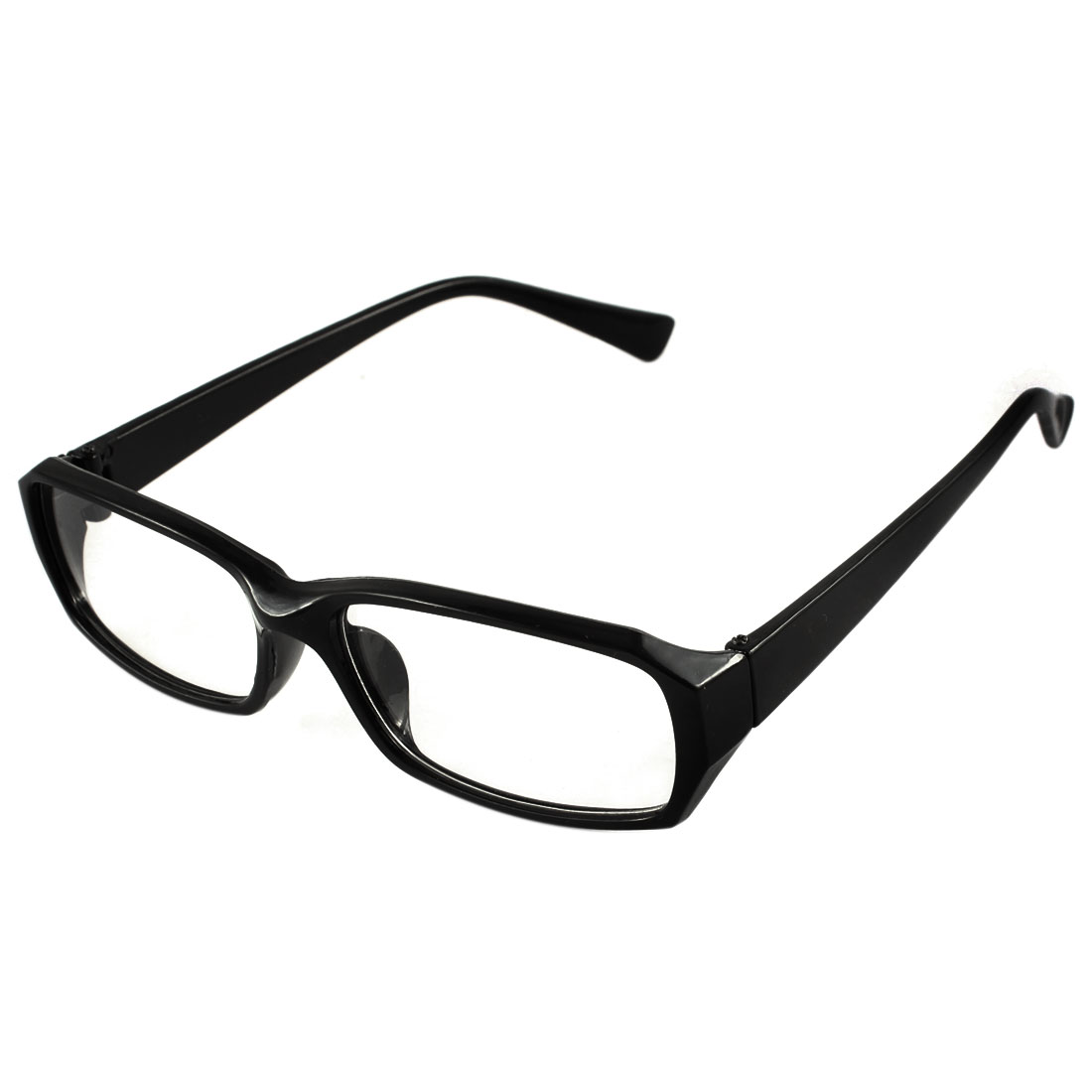 Unisex Chic Eyeglasses Glasses Eyewear Plain Rectangular Spectacle Frame Black