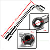 114mm Long Double 9mm Hex Key Wrench Handy Tool Silver Tone