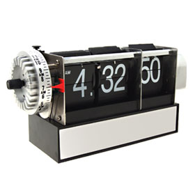 Skeleton Retro Flip Down Desk Clock
