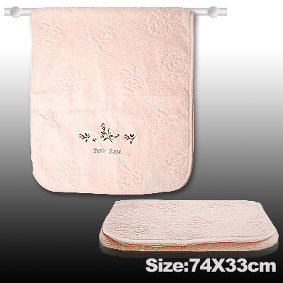 Pink Rose Bath Shower Cleaning Clean Towel Washcloth