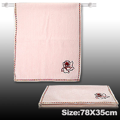 Pink Comfortable Cotton Bath Hand Face Towel Washcloths
