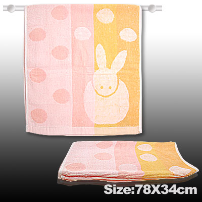 Cotton Bath Hand Face Towel Washcloths Pink Orange