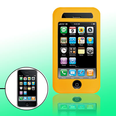Yellow Protector Silicone Skin Case Cover for Phone 3G / 3GS