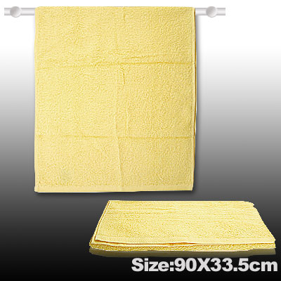 Comfortable Yellow Cotton Bath Hand Face Towel Washcloths