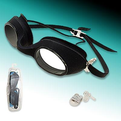 Black Swim Swimming Water Polycarbonate Lenses Goggles
