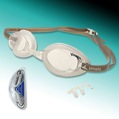 Swim Goggles Hard Coating Anti Fog of Transparent White Color