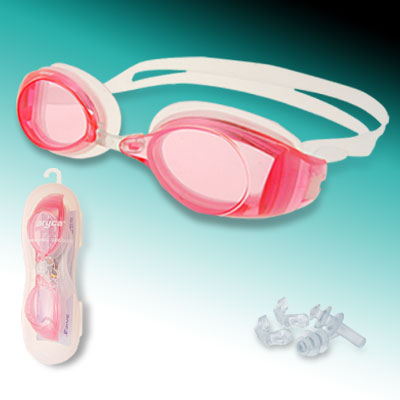 Cool Sports High-qualified Swimming Pool Swim Goggles Anti Fog of Pink Color
