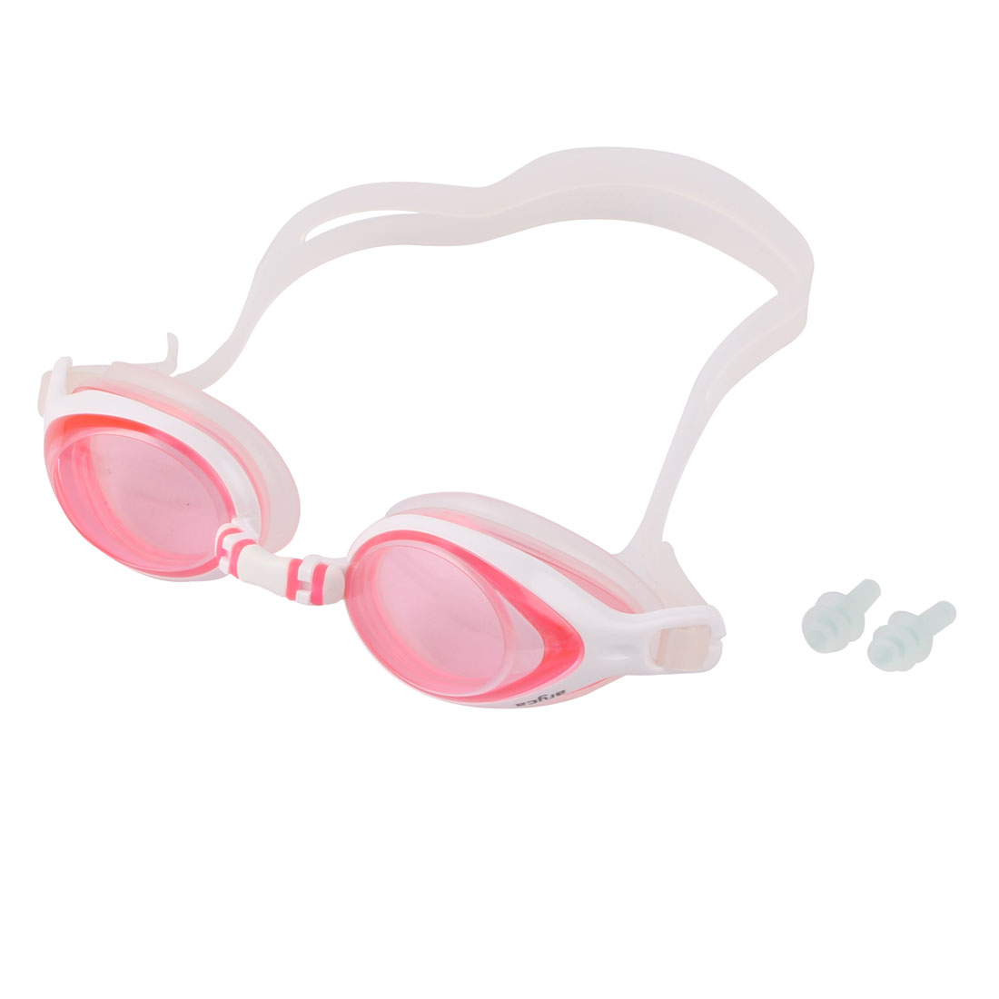 Mini Pink and White Color Swimming Pool Swim Goggles Anti Fog