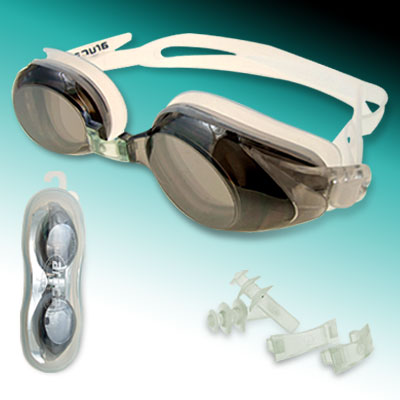 Kids' Swimming Swim Goggles Anti Fog of Gray and White Color