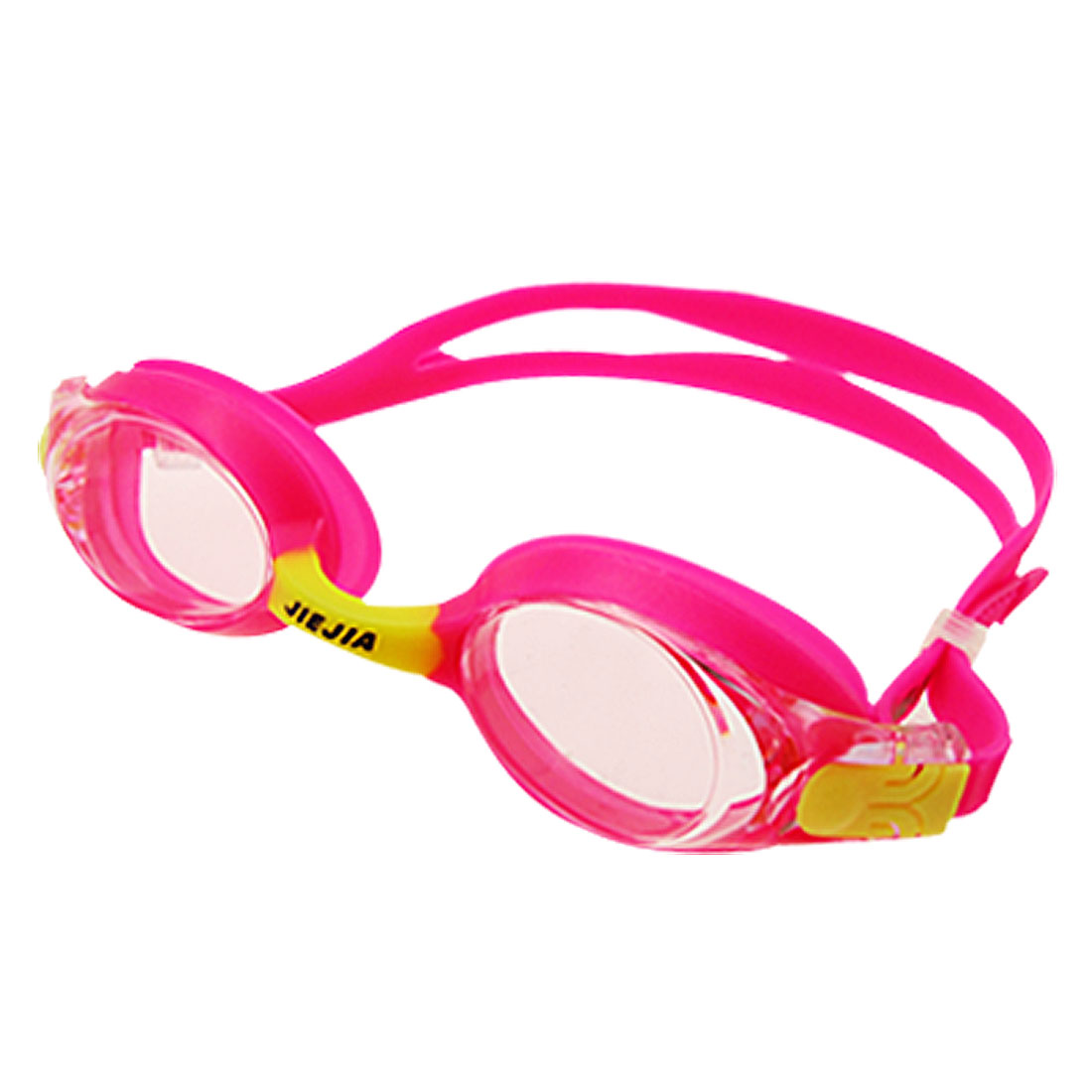 Sports Pink and Yellow Kids Swimming Pool Swim Goggles Anti Fog
