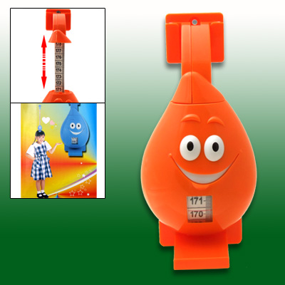 Orange Cartoon Retractable Tape Measure Ruler