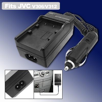 Home Car Travel Charger for JVC BN-V306 BN-V312 Battery GR-DVM96 Camera