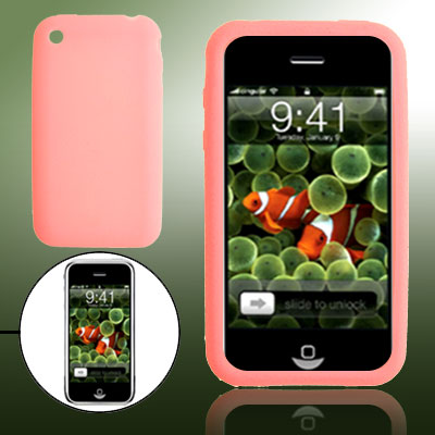 Mini Pink Form Fitting Silicone Skin Holder Case for Phone