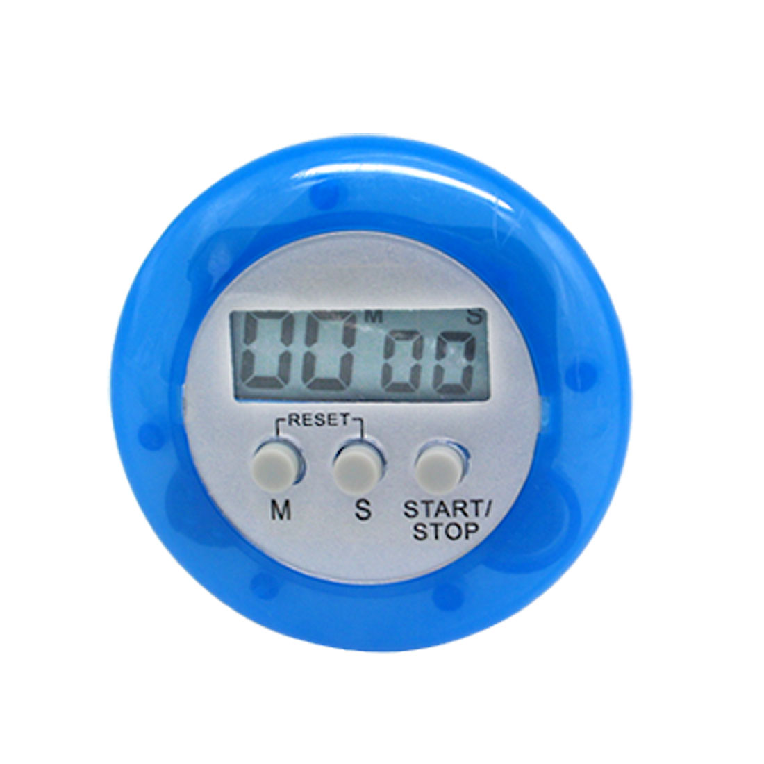 LCD Digital Second Minute Count Up/Down Blue Timer with Clip