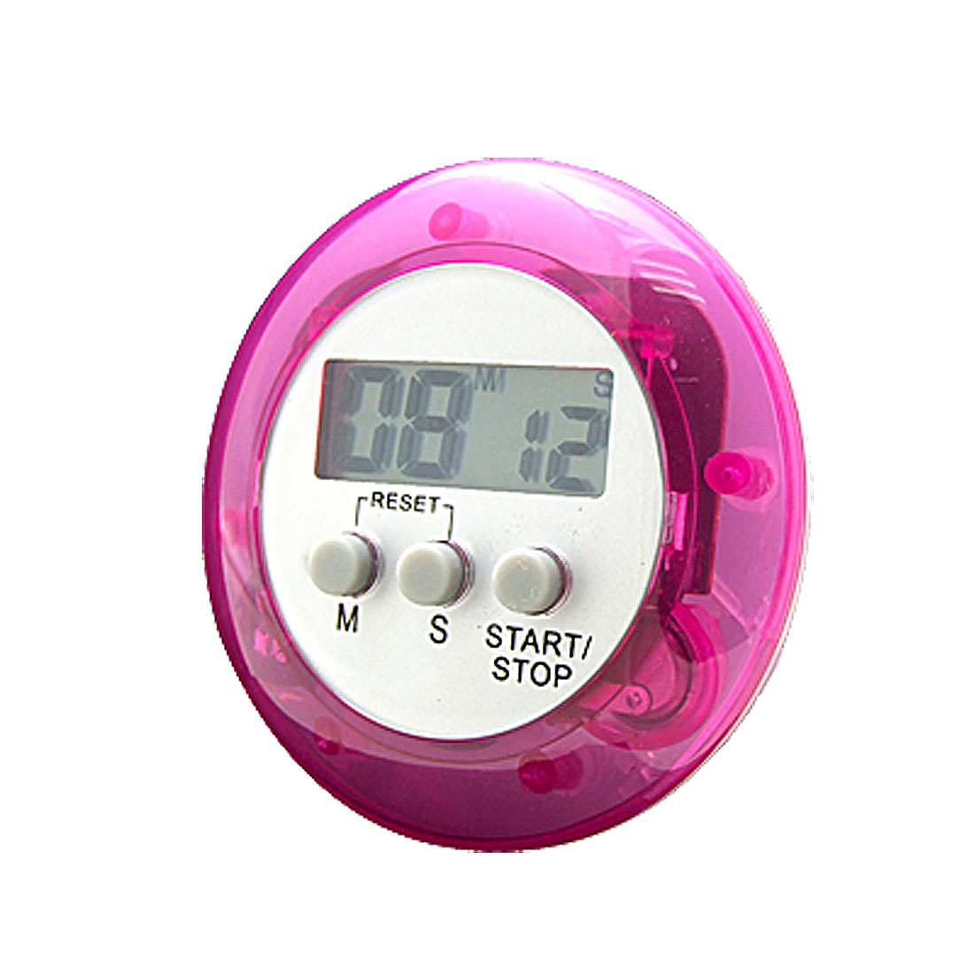Purple LCD Digital Second Minute Count Up Down Clip Timer