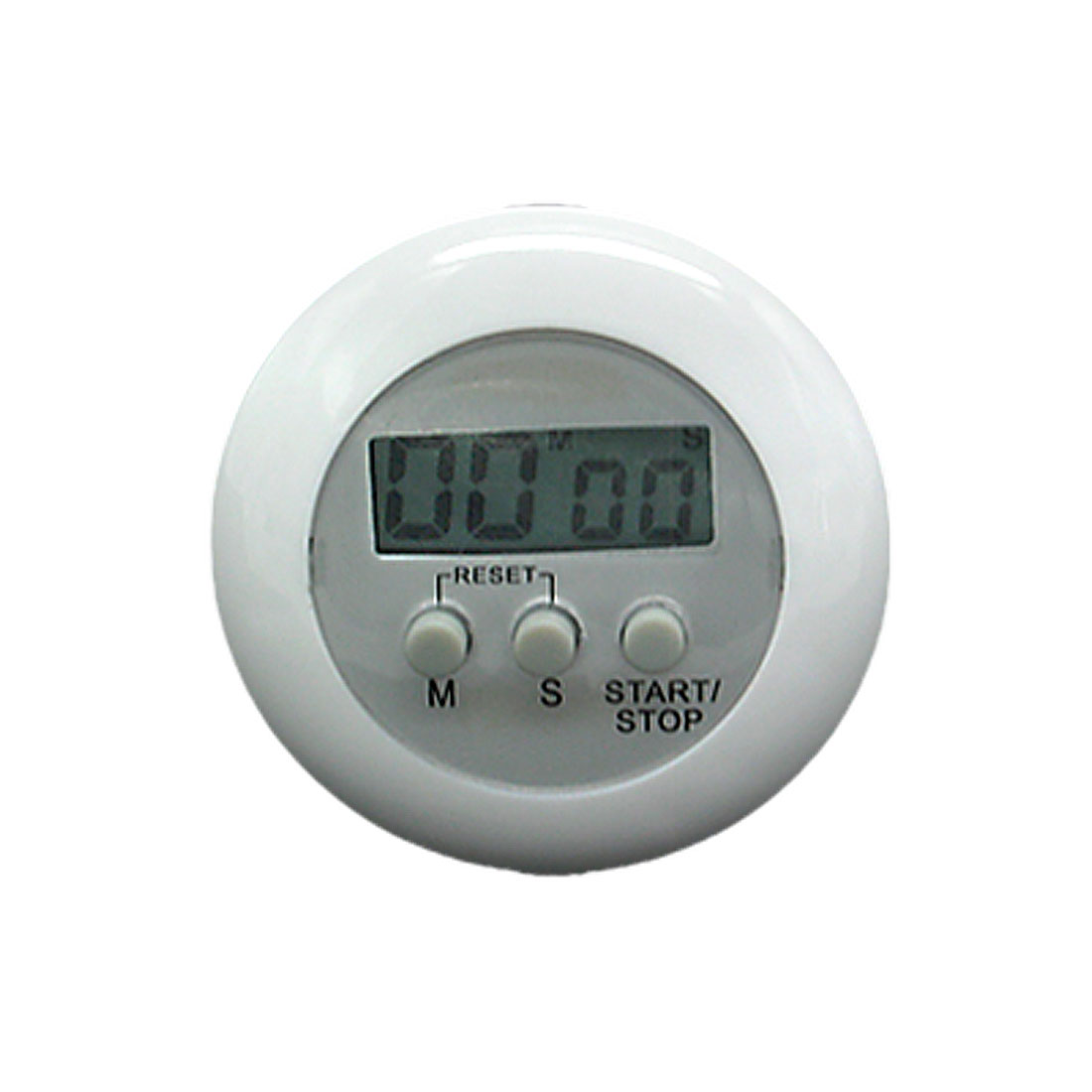 Kitchen White Circle Cooking Sleeping Count Down Timer