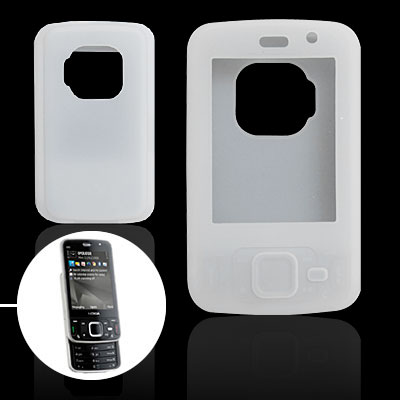 Clear White Protective Silicone Case for Nokia N96