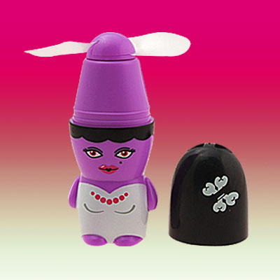 Purple Battery Operated Pocket Cooler Personal Fan