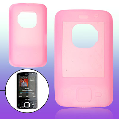 Pink Protective Silicone Skin Case Cover for Nokia N96