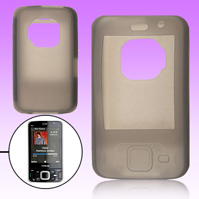 Gray Protective Silicone Skin Case Cover for Nokia N96