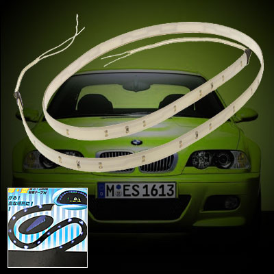 Car Auto Mount Soft Slim Decorative LED Yellow Light Lamp 12V (DX-015)