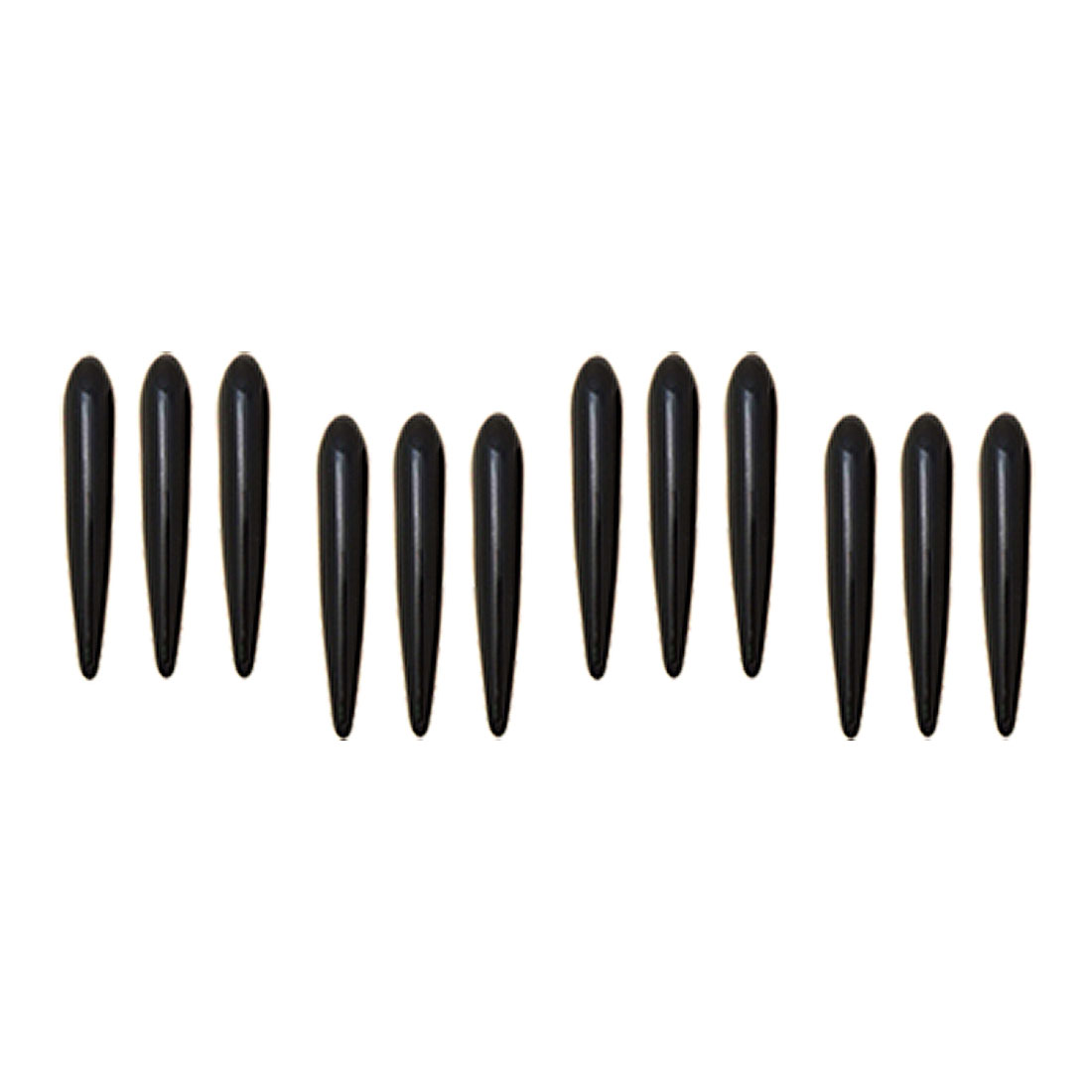 Black 12 Pieces Car Door Decorative Sticker Guard (YI-46)