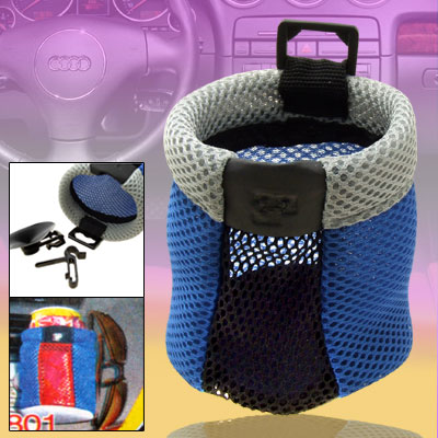 Portable Car Storage Pocket Organizer Blue and Gray