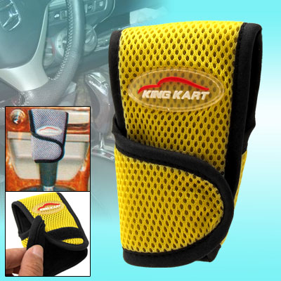 Fashion Yellow Netty Automatic Car Shift Knob Cover