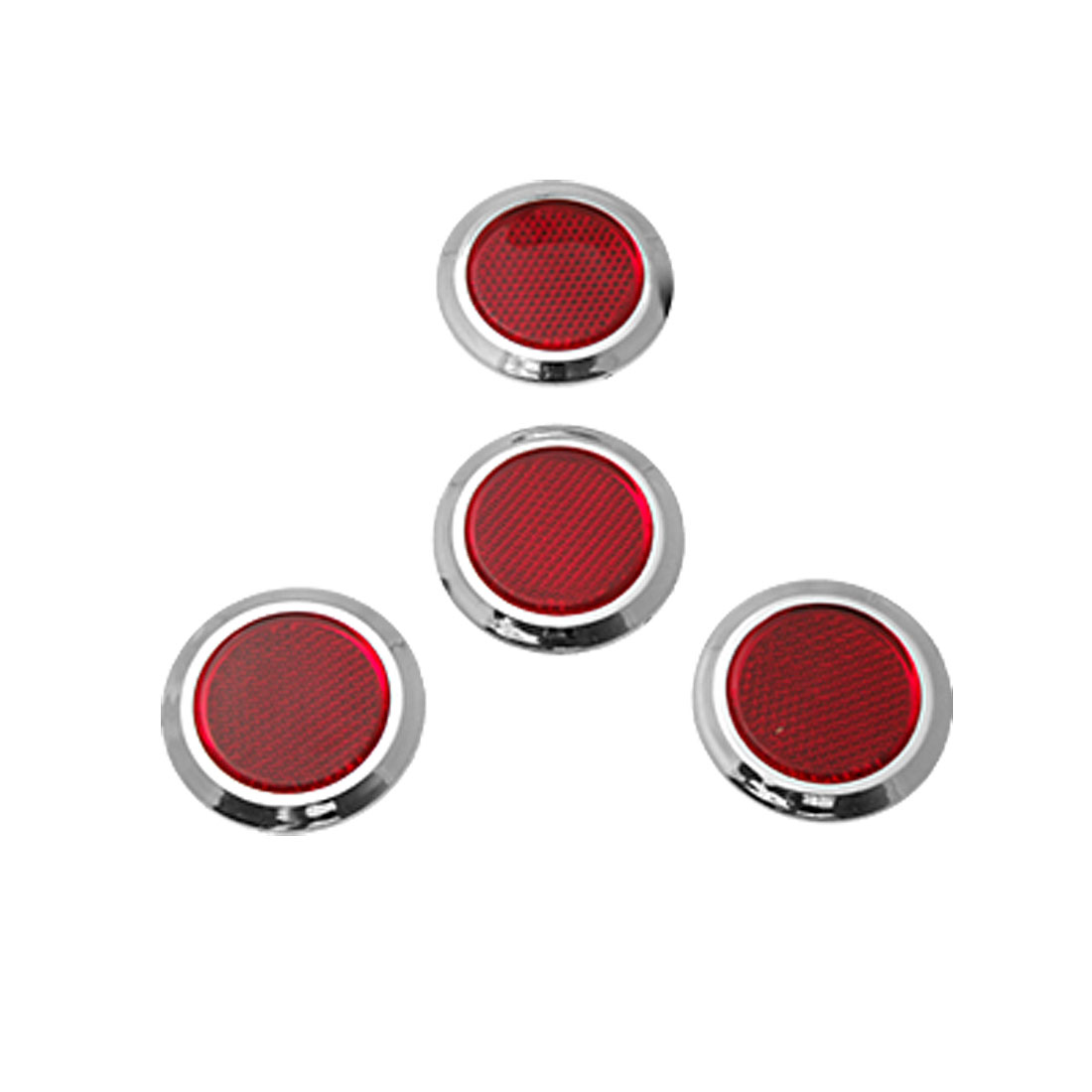 Red Round Car Bumper Door Reflector Set 4 Pieces Yblzc
