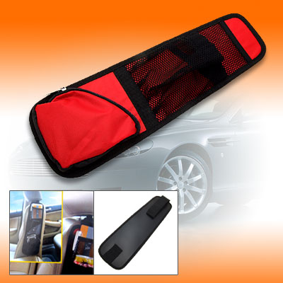Red Nylon Car Seat Chair Side Pocket Bag