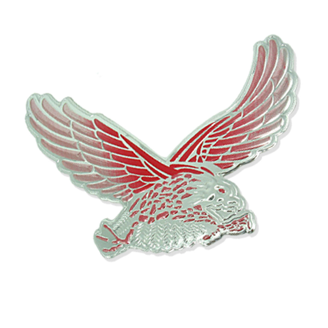 Silver and Red Eagle Car Decoration Logo Badge (HL-8031)
