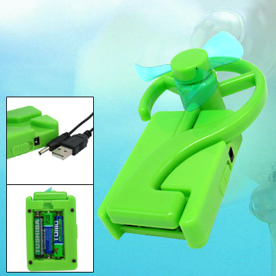 Mini Portable Green Folding Desk USB Fan