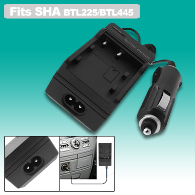Fast Digital Camera Battery Home Travel Charger for Sharp BTL225 BTL445