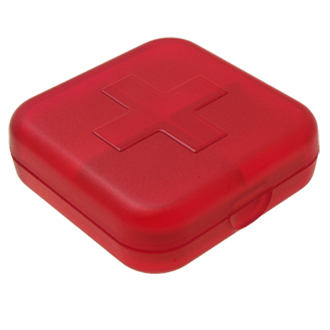 Square Plastic Red Cross Pill Box