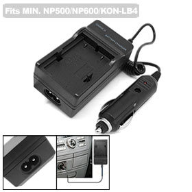 Car Digital Battery Charger for Konica Minolta NP500 / NP600