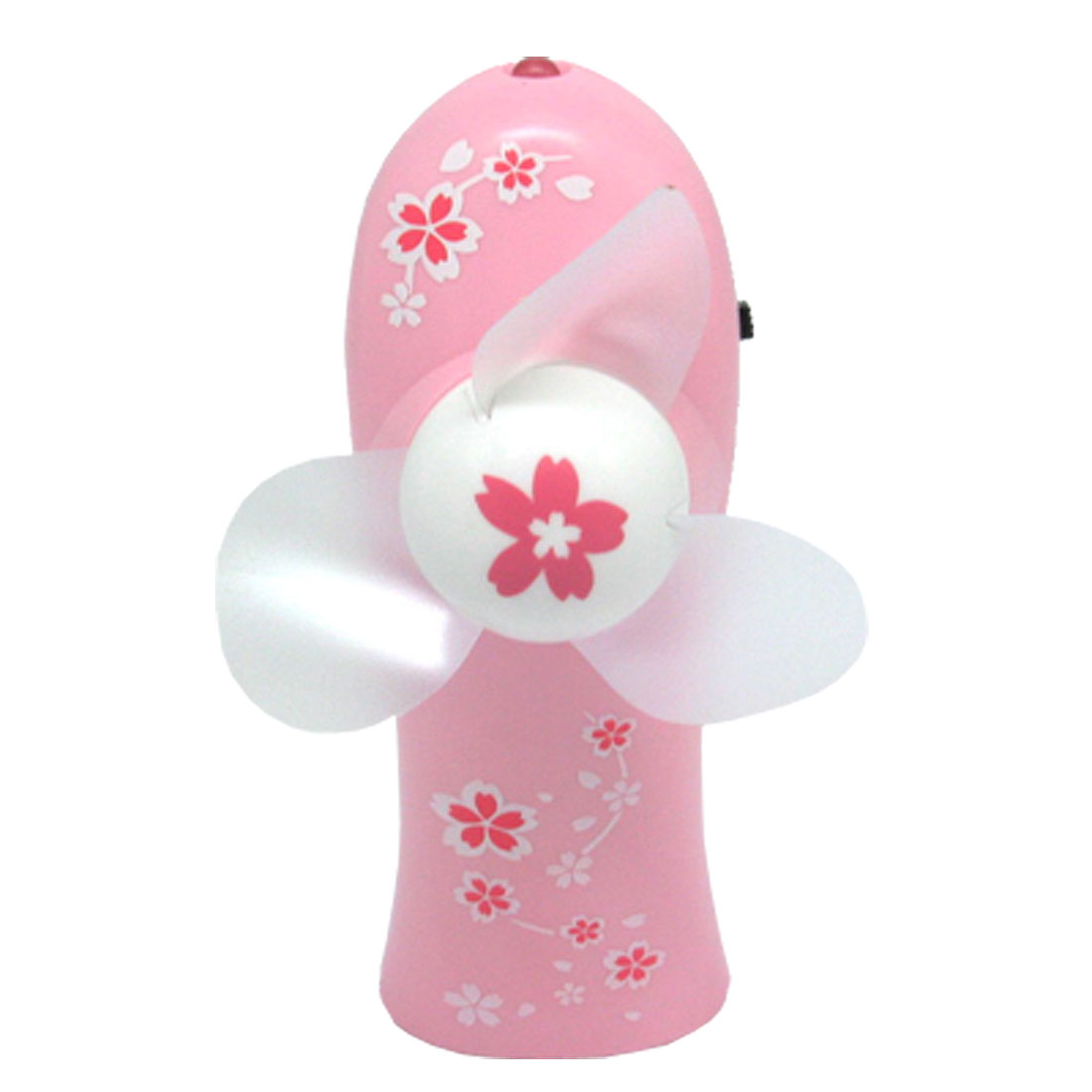 Personal Pink Battery Powered Fan with 1LED Light and Neck Strap