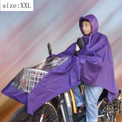 Purple Hooded Motorcycle Raincoat Rain Shadow Poncho (XXL M1005)
