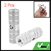 Children's Silvery Two Aluminum Alloy 0.9cm Axle Foot Pegs for BMX Bicycle Bike
